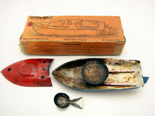 Vintage Tin Speed Boat Candle Power Specialty Sales Corp In Original Box