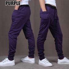 Mens Casual Plain Skinny Harem Pant Jogger Sport Sweatpants Baggy Track Trousers