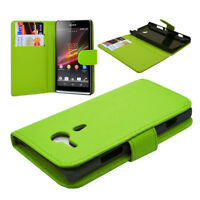 FOR SONY XPERIA SP C5303 PU LEATHER WALLET FLIP CASE COVER