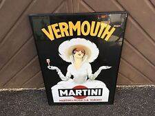 Vintage Vermouth Martini Framed Advertising Poster