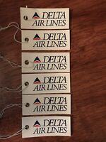 Delta Air Lines 6 Vintage Airline Baggage Identification Tags 1990s