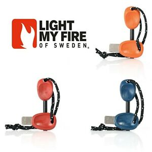 LIGHT MY FIRE FIRESTEEL 2.0 SCOUT BIO  swedish 2 in 1 fire steel red orange blue