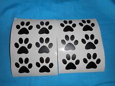 "12 2"" Black Vinyl Paw Print Decal"