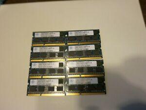 8 pieces Nanya 4GB 2RX8 PC3-10600S DDR3 1333Mhz Laptop Memory