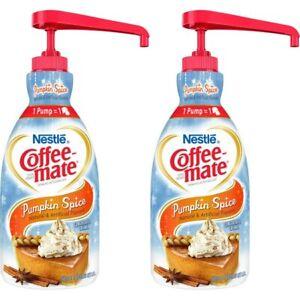 (Lot of 2) Coffee mate Pumpkin Spice 1.5 L Pump Bottle Liquid Coffee Creamer