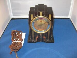 Art Deco Skyscraper Bakelite Telechron Alarm Clock Not Working