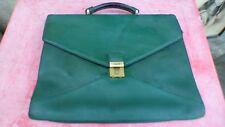Lancel cartable en cuir vert porté vintage