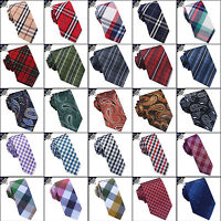 Mens Tartan Tie, Check Ties, Plaid Men's, Paisley Skinny, Crosshatch, Gingham