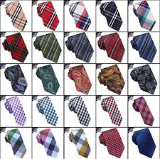 Mens Tartan Tie, Check Ties, Plaid Men's, Paisley Skinny, Crosshatch, Gingham