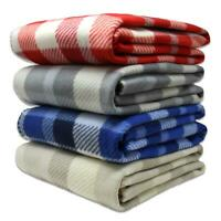 Tartan Fleece Blankets Polar Check Sofa Chair Cosy Throws Blanket 127cm x 152cm