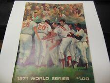 1971 WORLD SERIES PROGRAM PITTSBURGH PIRATES vs BALTIMORE ORIOLES MLB BASEBALL