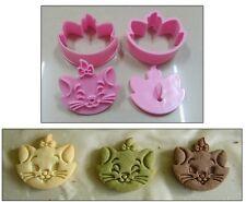 2Pcs Marie Cat Cartoon Fondant Cake Sugarcraft Baking Biscuit Cookie Cutter Mold