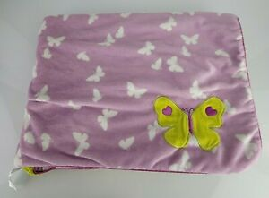 Carter's Just One You Lavender Baby Blanket Butterflies Lime Green Sherpa Purple