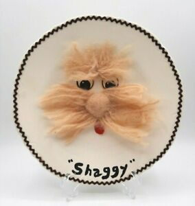 "Vintage Unique Hand Made Ceramic Plate ""Shaggy"""