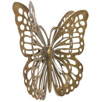 Gold Metal Butterfly Wall Decor Classic Nature Home Decor