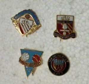 Manchester City FC vintage enamel badges x 4
