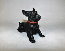 Antique Cold Painted Austrian Scotch Terrier Ashtray Metal Figure Trap Door VGC!