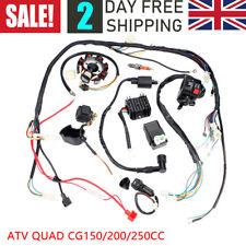 Full Electric Wiring Harness Wire Loom CDI Stator For ATV QUAD 150cc 200cc 250CC