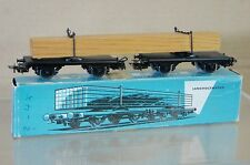 MARKLIN MäRKLIN 4512 DB LANGHOLZWAGEN FLAT WAGON & TIMBER LOAD WAGON BLUE BOX ne