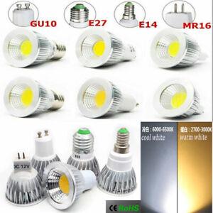 5/10PCS 5W/9W/12W LED Dimmable Spotlight COB Light Bulbs GU10/MR16/E27/E14/GU5.3