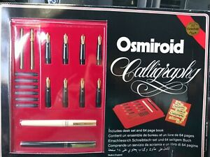 VINTAGE OSMIROID DELUXE CALLIGRAPHY SET NEW OLD STOCK 22 KARAT GOLD PLATED