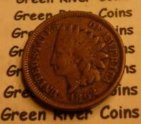 1862  CN   Indian Head Penny Cent  Coin  #L62