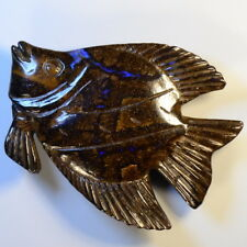 94.77 carats Solid Australian Boulder Opal Angel Fish Carving (12423)