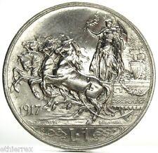 Vittorio Emanuele III (1 Lira 1917) Quadriga briosa