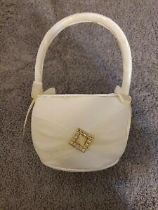 Lillian Rose Elegant Ivory Satin Flower Girl Basket New in Package