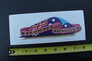 Bronzed Aussies Surfboards Australia Flag Original V32A Vintage Surfing STICKER