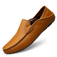 Men's Driving Shoes Premium Genuine Leather Slipper Casual Slip On Loafers Shoe