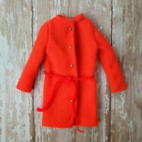 Vintage Barbie #1464 ANTI-FREEZERS Coat w/ Belt Orange Knit EXCELLENT Cond