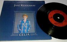 """JANE KENNAWAY Celia 7"""" VINYL UK Raised In Hollywood 1981 B/W Radio (Dm439) Pic"""