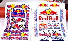 Red Bull Logo Sponsor Decal Sheets - 29 total graphics included!