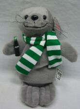 """Coca-Cola Coke Cute Seal With Scarf 8"""" Bean Bag Stuffed Animal Toy New"""