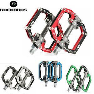 ROCKBROS Bike Pedals 9/16'' MTB Road Bike Cycling Platform Pedals Aluminum Alloy