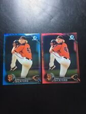 2016 Phil Bickford TWO Prospect Refractors #/5 And #/15 Bowman Chrome Giants
