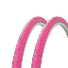 "2 - Tires Wanda 26"" x 1.50"" Pink/pink Sidewall G-5013 Heavy Duty Bicycle Tire"