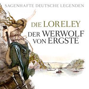 Hörbuch CD Sagenhafte deutsche Legenden mit Die Loreley & Der Werwolf von Ergste