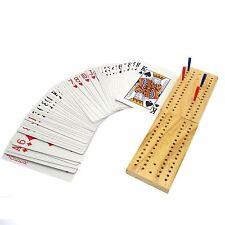 Culla in legno Cribbage tavola & Set di carte da gioco con esegue il pegging Famiglia Gioco ty7312