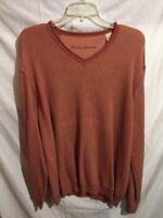 Tommy Bahama Men's Orange Rust Long Sleeve Cotton Blend Casual Shirt Size Large