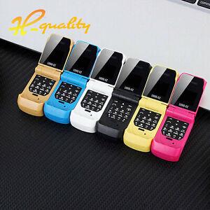 LONG-CZ J9 Smallest Mini Flip Phone 0.66 Bluetooth Dialer Mobile Phone For Kids