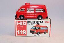Tomica 1:66 119 Hiace Fire Chief Car Mint in Box.