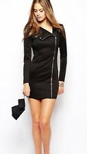 Super Trash Black Scuba Sexy Bodycon Dress M Uk12.BNWT. Rrp£150. PARTY/NIGHTOUT