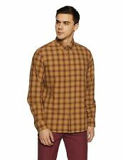 Shirt for Men Indian Terrain casual cotton Checkered Slim Fit Long Sleeve
