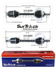 Fits Honda Prelude FWD Pair of Front CV Axle Shafts SurTrack Set Standard Trans