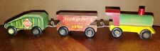Dinky Toys??? #SP316, 3-Pc Wood Train set. See ad. (10D)