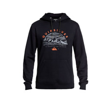 2019 NWT MENS QUIKSILVER BIG LOGO SNOW HOODIE $70 L Black