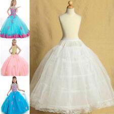 2-Hoop Pettiskirt Flower Girl Petticoat Children Underskirt Slips Kid 3~14 Year