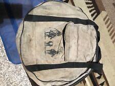 vintage antique team roping logo on cloth rope cowboy lariat bag. used